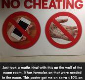 Helpful Anti-Cheating Poster