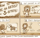 Be An Artist In 3 Easy Steps