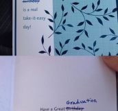 Last Minute Graduation Card