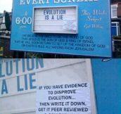 So, Evolution Is a Lie?