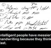 That Explains My Handwriting