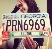 Georgia License Plate