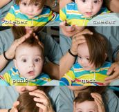 Baby Trying Different Hairstyles