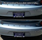 Personalized License Plate
