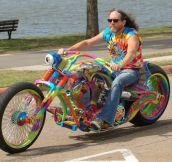 Sweet Tie-Dye Motorcycle