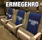 The Seats Are Taken