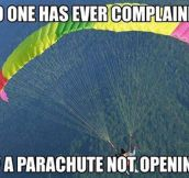 Parachute's Best Advertisement
