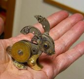 Rabbit Made From Clock Parts
