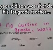 Gotta Love The Education System, Kid Is Too Smart, Better Dumb Him Down