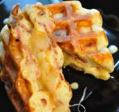 Grilled Cheese Bacon Waffles