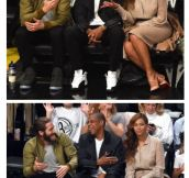 Probably laughing about Solange…