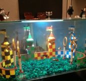 Lego Quidditch Aquarium at my Office