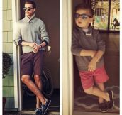 A Mother Dresses Up and Poses Her 4 Year Old Son Like a Male Fashion Model (7 Pics)