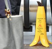Banana Wet Floor Sign (8 Pics)