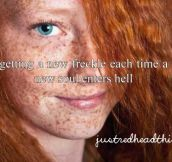 The first freckle was their own soul.