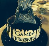 An Iron Throne Cake