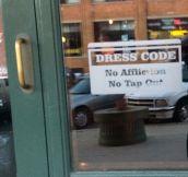 A Bar's Dress Code