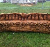 Awesome Owl Bench