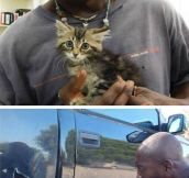 Rescuing The Little Kitten
