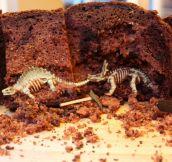 Clever Paleontology Cake