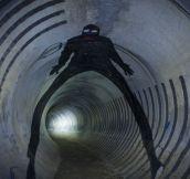 Graffiti Found In A Tunnel