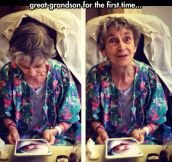 Seeing Her Grandson For The First Time