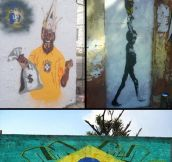 Anti-FIFA Graffiti In Brazil