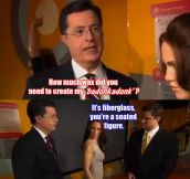 Stephen Colbert Visits The Wax Museum
