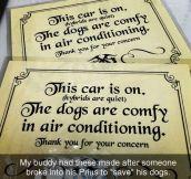 The Please Don't Brake My Car Card