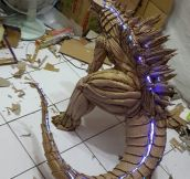 Godzilla Made Out Of Cardboard