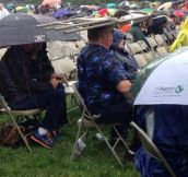 Chair Hat In The Rain