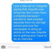 Chipotle Joke Goes Wrong