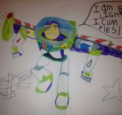 Buzz Lightyear Follows American Pie's Advice