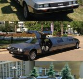 A Limo Made From Three Deloreans