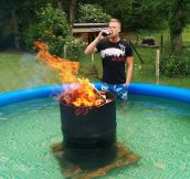 That's One Way To Heat Up The Water In The Pool