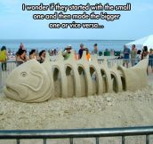 Amazingly Complex Sand Sculpture