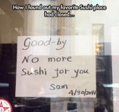 No More Sushi Place