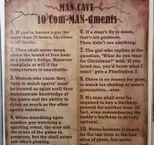 Man Cave Commandments