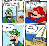 Mario And Luigi Make It To Shore