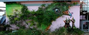 This Urban Artwork Incorporates Nature In A Totally Unexpected Way. These Pieces Are Incredible.
