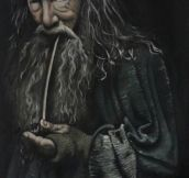 A friend painted this well known image, Gandalf the Grey