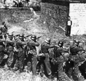 A Member Of The French Resistance, Smiling At a German Firing Squad in 1944