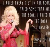 Dolly Parton on dieting