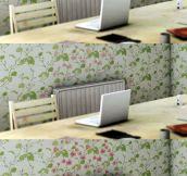 This heat-sensitive wallpaper
