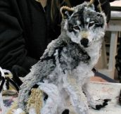Wolf Made Using Pipe Cleaners