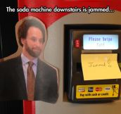 Jammed Soda Machine