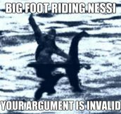 Big Foot Riding Nessi