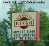 Support Bingo, Do It For Grandma