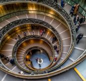 The Famous Staircase In The Vatican