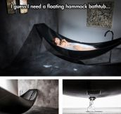 A Hammock And A Bath Tub